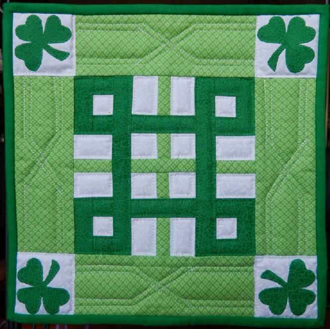 Celtic knot miniature quilt