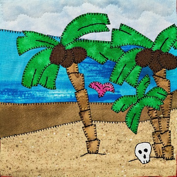 Desert Isle Applique Quilt Block by Ms P Designs USA