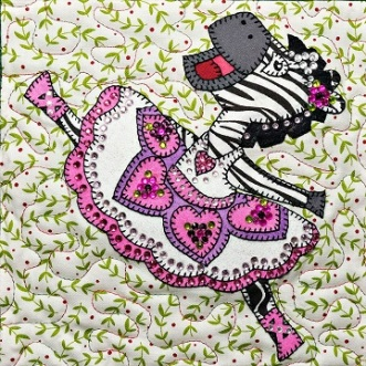 Sugarplum Zebra Dancer by Ms P Designs USA