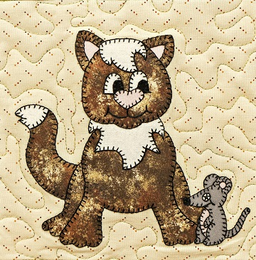 Cat and Mouse 2 applique by Ms P Designs USA