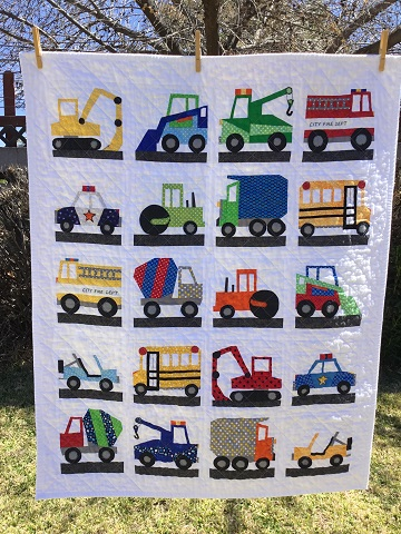 Debbie F vehicle quilt March 2018