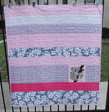 Janie K Koala quilt April 2016