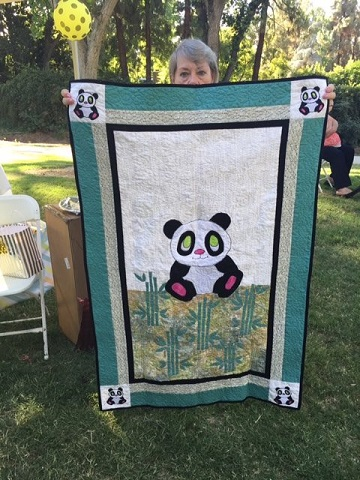 Judi C Giant Panda Quilt July 2016