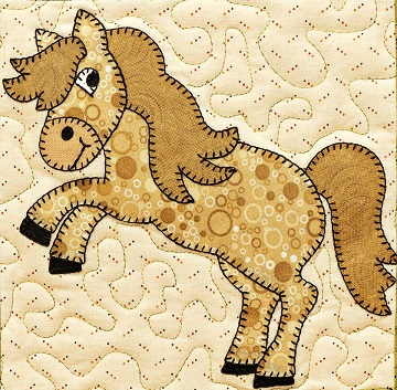 Mustang applique by Ms P Designs USA