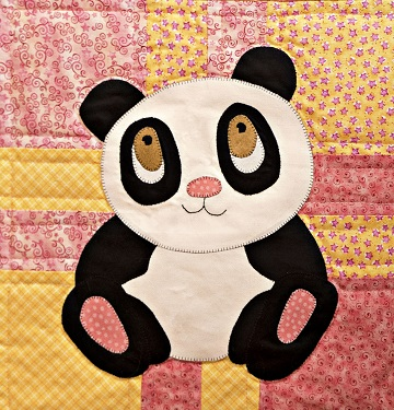 Giant panda applique from Ms P Designs USA