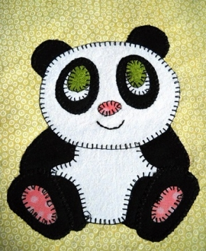 Giant Panda Applique by Ms P Designs USA
