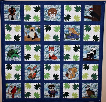 Playful Woodsies Quilt Pattern by Ms P Designs USA