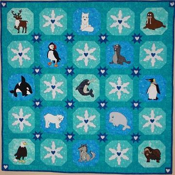 Polar Animals Quilt by Ms P Designs USA