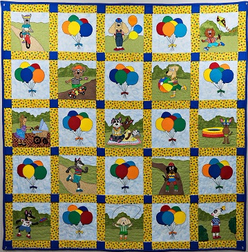 Puppy Park Boys with Balloons Quilt Pattern by Ms P Designs USA