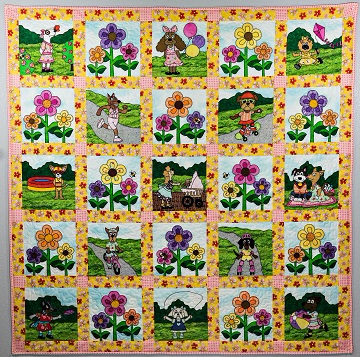 Puppy Park Girls Quilt by Ms P Designs USA