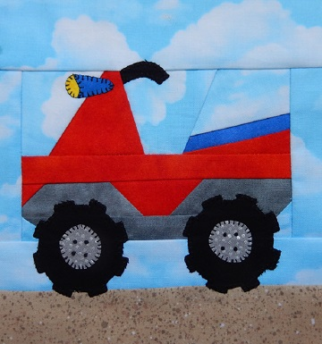 4-wheeler or ATV paper pieced pattern by Ms P Designs USA