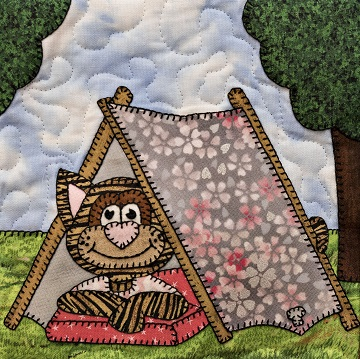 Camping cat by Ms P Designs USA