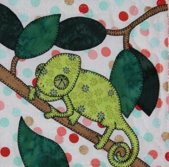 Chameleon applique by Ms P Designs USA