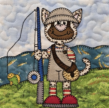 fisherman cat by Ms P Designs USA