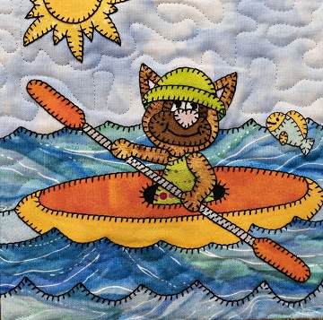 Kayak cat by Ms P Designs USA