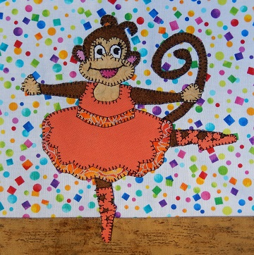 Monkey Ballerina by Ms P Designs USA