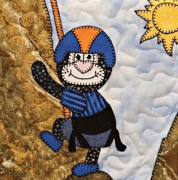 Rock climber cat by Ms P Designs USA