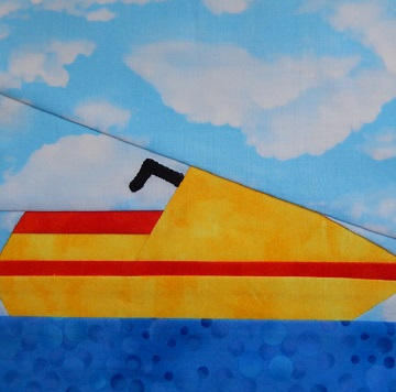 Personal Watercraft paper pieced pattern by Ms P Designs USA