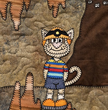 Spelunking cat by Ms P Designs USA