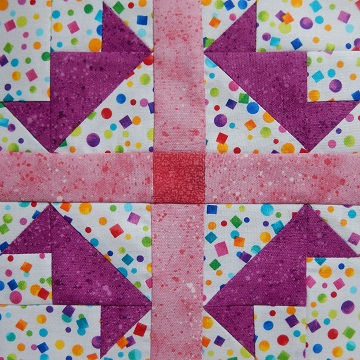 Tiaras Pieced Block by Ms P Designs USA