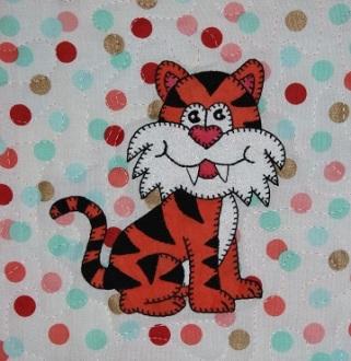 Tiger applique by Ms P Designs USA