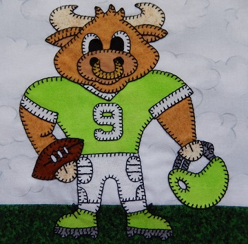 Bull football player by Ms P Designs USA