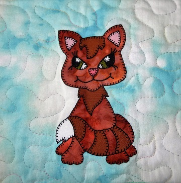 Cat applique by Ms P Designs USA