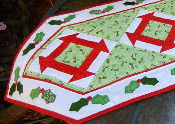 Christmas Churn Dash Runner by Ms P Designs USA