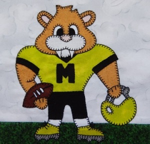 Cougar football player by Ms P Designs USA