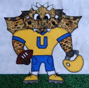 Dragon football player by Ms P Designs USA
