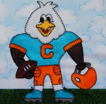 Eagle football player by Ms P Designs USA