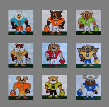 Football Player lineup by Ms P Designs USA