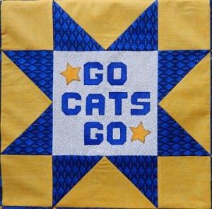 Football Stars Go Cats Go Block Ms P Designs USA