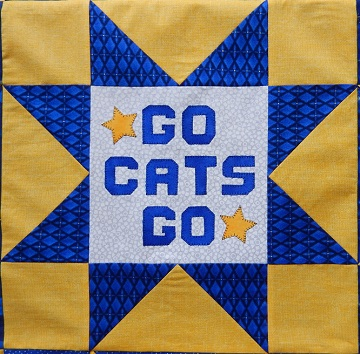 Football Stars Go Cats Go Block Ms P Designs USA