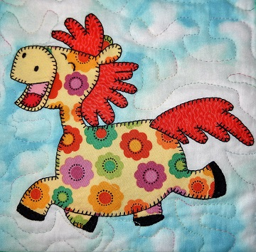 Horse applique by Ms P Designs USA
