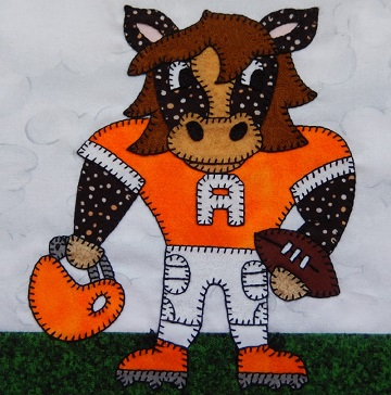 Horse or Mustang or Bronco football player by Ms P Designs USA