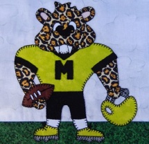 Leopard football player by Ms P Designs USA