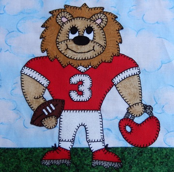 Lion football player by Ms P Designs USA