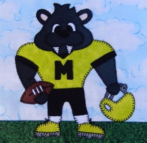 Panther football player by Ms P Designs USA