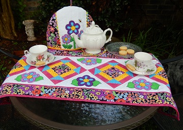Tea party by Ms P Designs USA featuring Churn Dash Table Runner