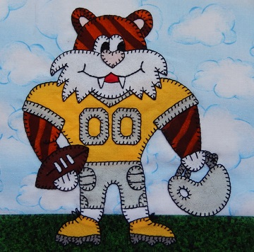 Tiger football player by Ms P Designs USA