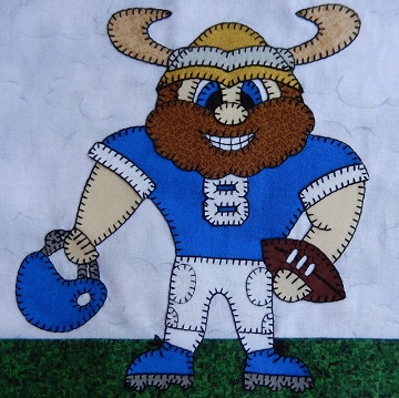 Viking football player by Ms P Designs USA