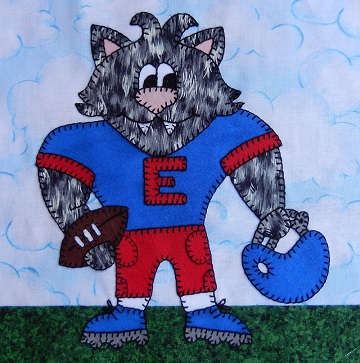 Wildcat football player by Ms P Designs USA