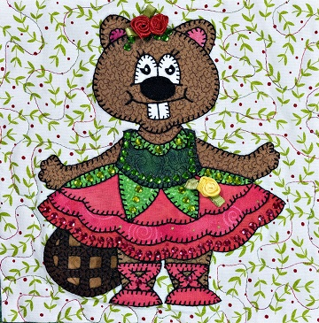 Beaver Dance of the Flowers by Ms P Designs USA