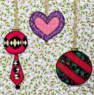Christmas Ornaments 4 by Ms P Designs USA