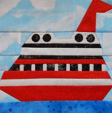 Cruise Ship Paper Pieced Pattern by Ms P Designs USA