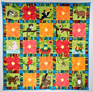 Jumpin' Jungle Baby Quilt by Ms P Designs USA