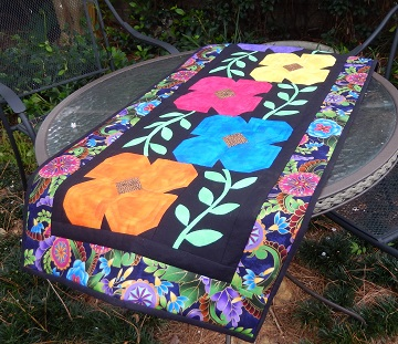 Jungle Flowers Table Runner by Ms P Designs USA