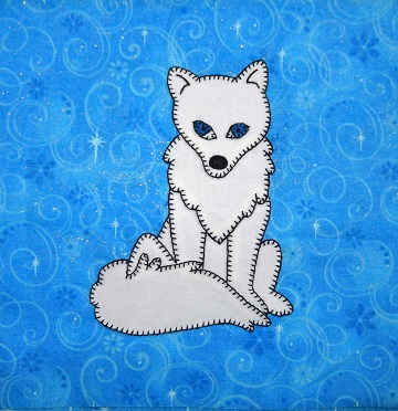 Arctic Fox Applique Block by Ms P Designs USA