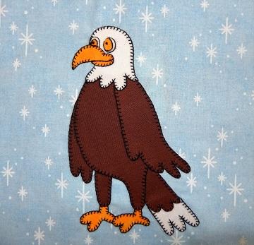 Bald Eagle Applique Block by Ms P Designs USA